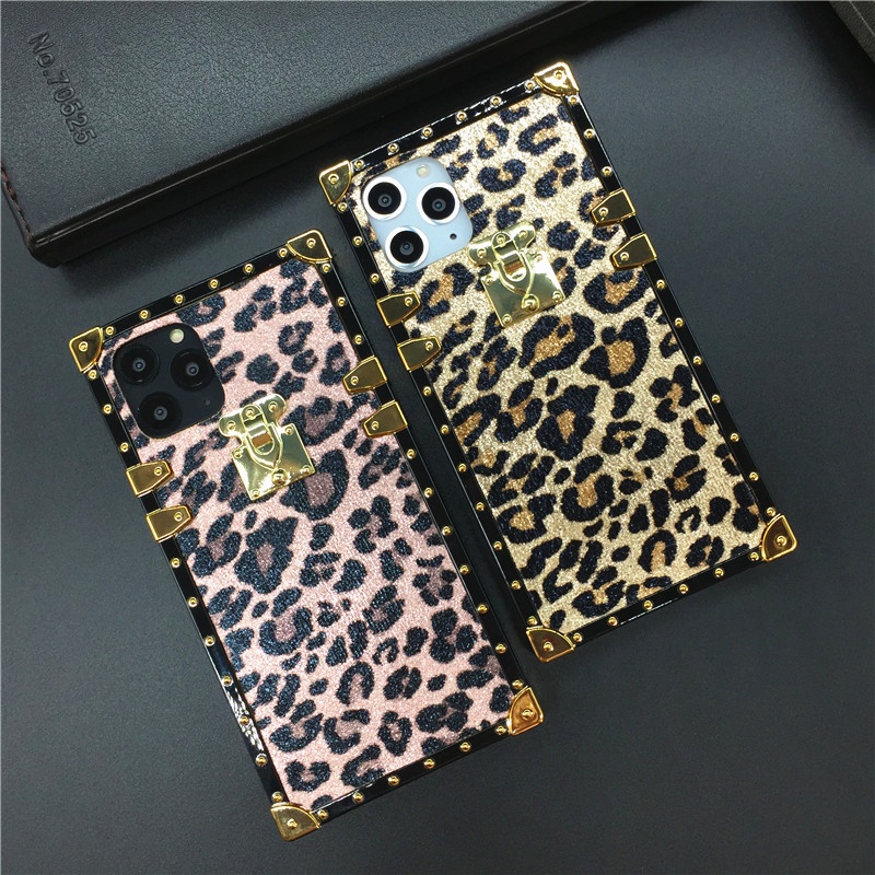 Luxury <font><b>Sexy</b></font> Leopard Phone Cover Square <font><b>Case</b></font> for Samsung Galaxy S9 S10 J4 J6 Plus <font><b>S8</b></font> Note 9 10 8 A7 A30 A50 A70 M20 M30 Coque image