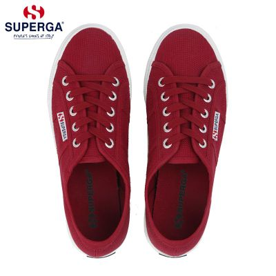 SUPERGA 2750 Classic COTU CLASSIC wine red men and women couple low-top canvas shoes sneakers light burgundy image