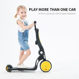Multi-función de 5 en 1 Scooter de bebé equilibrio coche Yo-yo diapositiva triciclo la gente puede sentarse niños triciclo, bicicleta de equilibrio Andadera Para Bebe