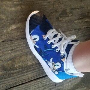 Image 4 - HYCOOL enfants chaussures pour enfants garçons Sonic le hérisson baskets plates Sports de plein air chaussures de course Chaussure Enfant Garcon Fille