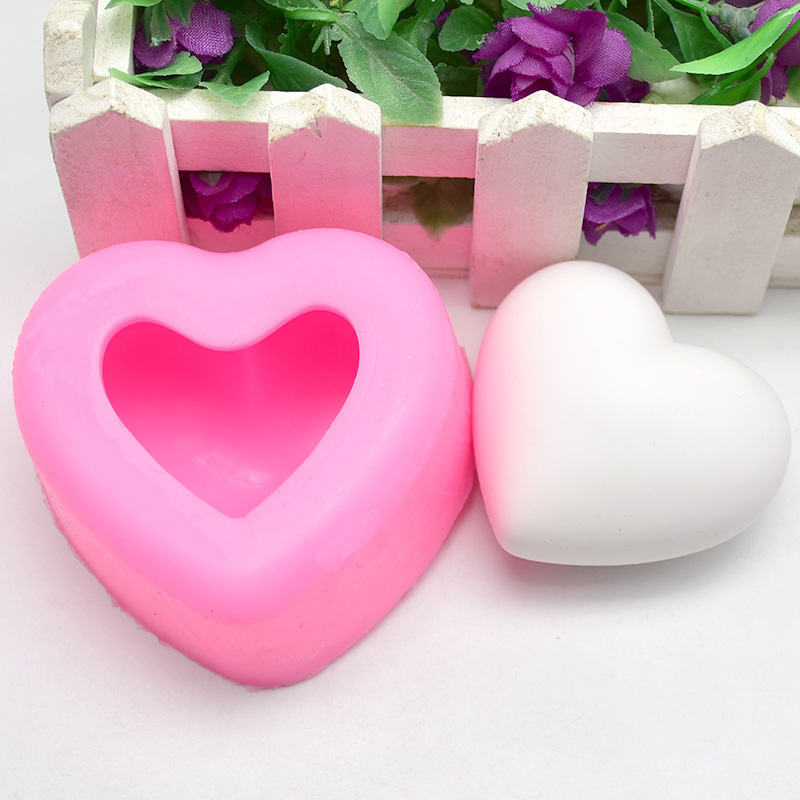 Silicone Heart Soap Mold DIY Cake Decorating Tools 3D Candy Making Tool Jelly Supplies Candle Plaster Making Mould
