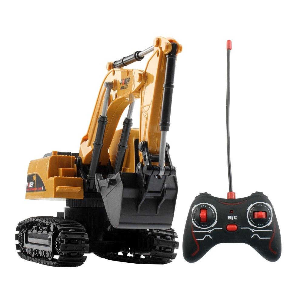 Rc caminhão escavadeira rastreador 1/24 2.4 ghz 5ch controle remoto construção engenharia modelo de veículo com luz presentes brinquedos para crianças