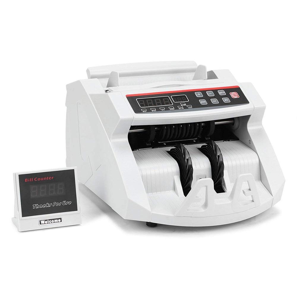 Vevor dinheiro bill contador 1000 pcs/min 80w moeda máquina de contagem de dinheiro uv mg detecção de falsificação com display led