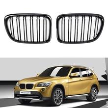 Een Paar Dubbele Slat Nier Grille Sport Motorkap Grill Voor Bmw X1 E84 2011 2015 Gloss Zwart/mat Zwart/M Kleur Auto Accessoires