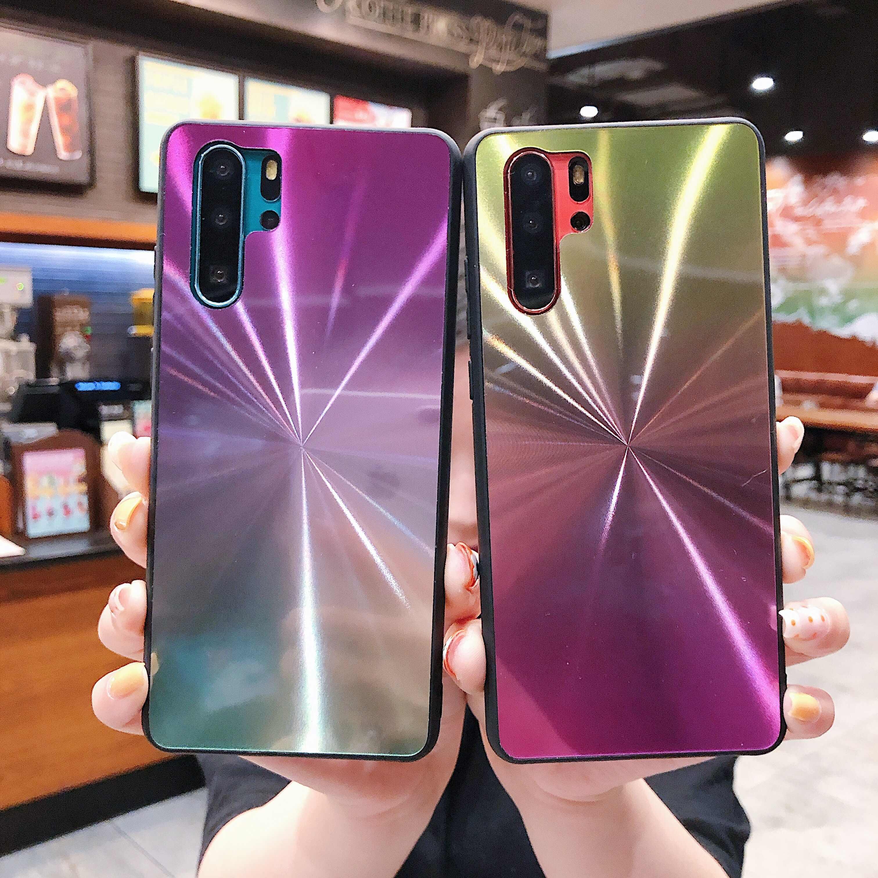 Dégradé brillance Laser CD étui de téléphone hybride pour Samsung Galaxy S8 S9 S10 Note 8 9 M10 A10 A20 A30 A40 A50 A60 A70 Plus Lite Cover