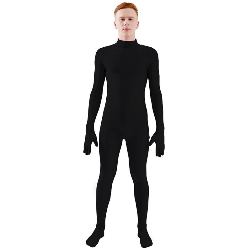 Adult Lycra Spandex Unitard Bodysuit Costume Men Tight Suit Dance Yoga Unitard