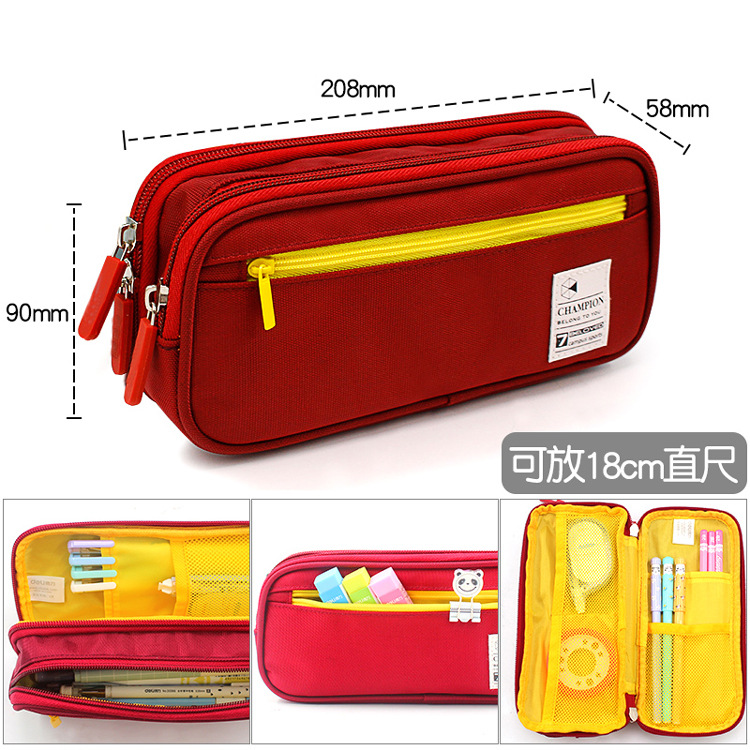 2020 New Pencil Case For Students Stationery School Pencil Bag Creative Zipper Large Pen Box Kawaii  Boys Grils Cute