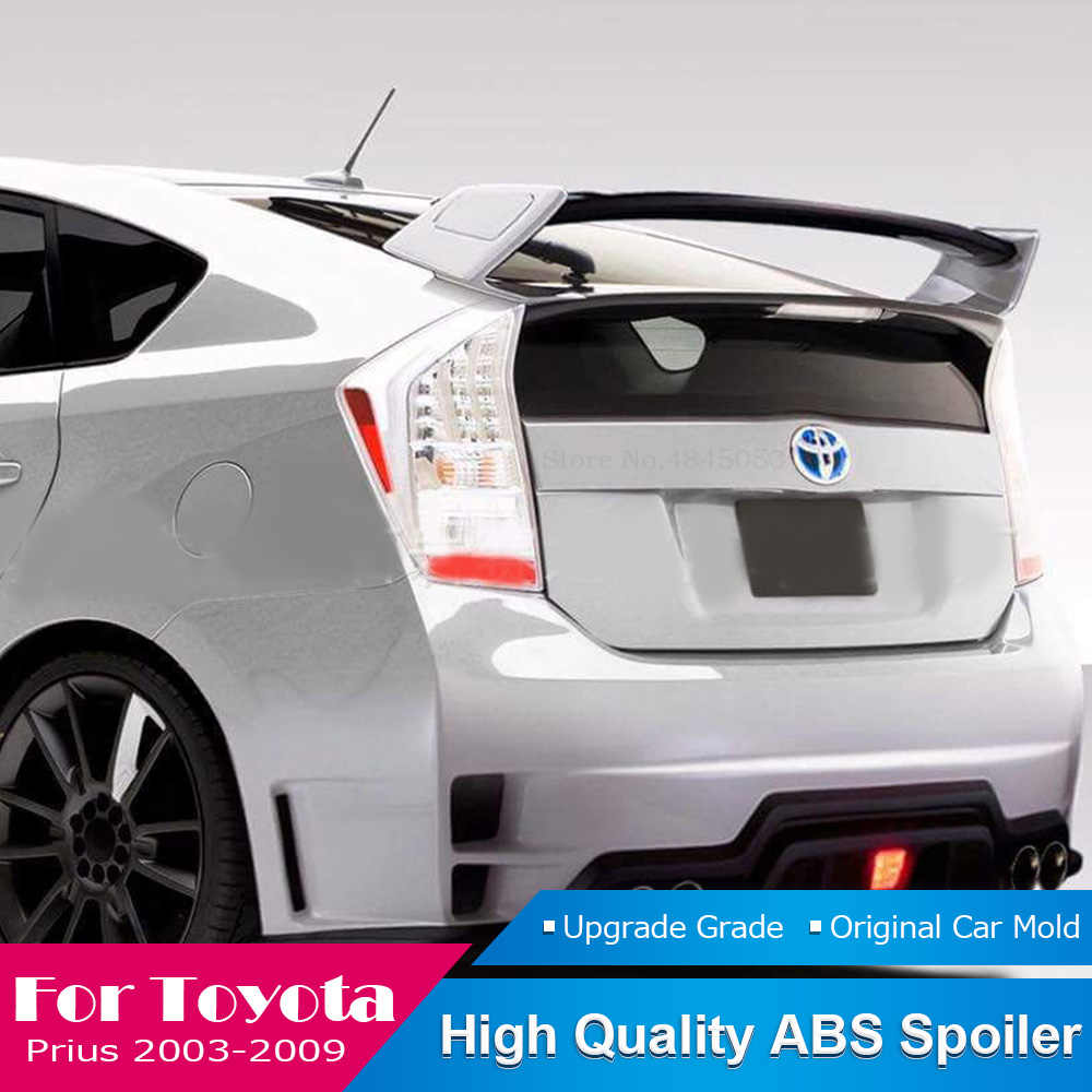 Fit For Toyota Prius 2003 To 2009 Tail Roof Spoiler Abs Material Unpainted Color Rear Trunk Boot Wing Roof Spoiler Protector Aliexpress