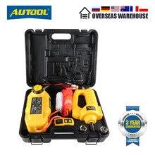 AUTOOL – cric de voiture hydraulique électrique, 5 tonnes, 12V, levage de voiture, remplacement automobile, équipement d'urgence, outils avec clé électrique