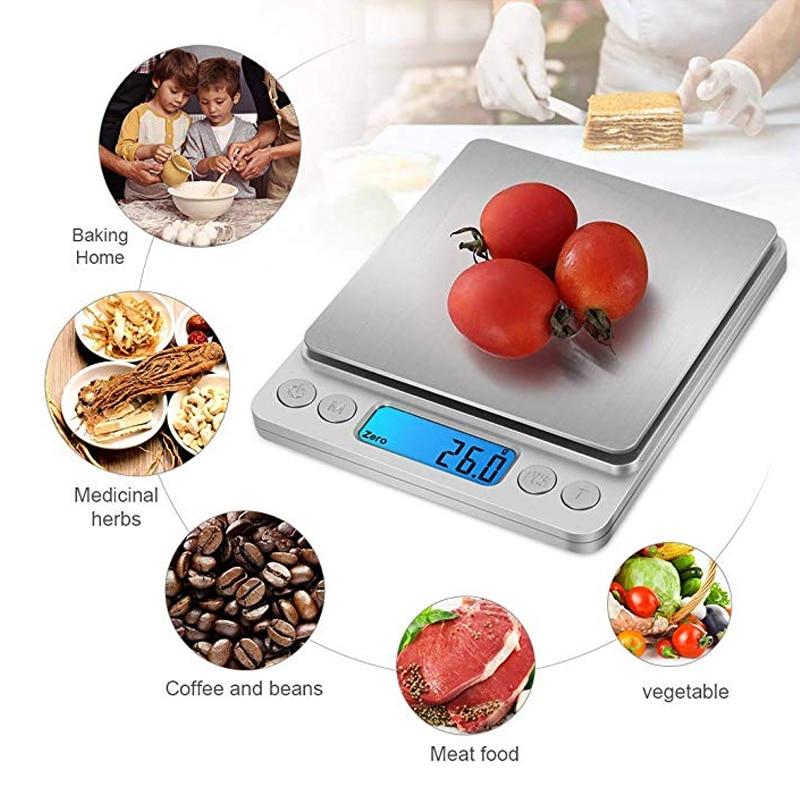 Точные цифровые весы 0,01 г/0,1 г с ЖК-дисплеем, электронные мини-весы 500 г/3000 г, весы для взвешивания чая и выпечки-5