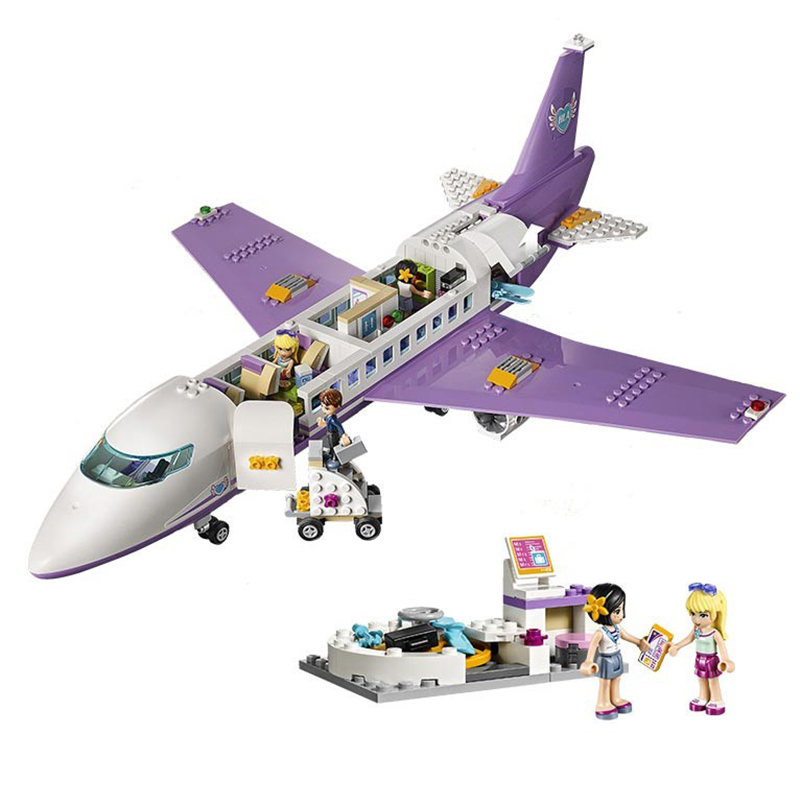 701Pcs Educational Building Blocks Toys For Children Gifts City Girls Friends Plane Airport Compatible With Legoinglys Friends