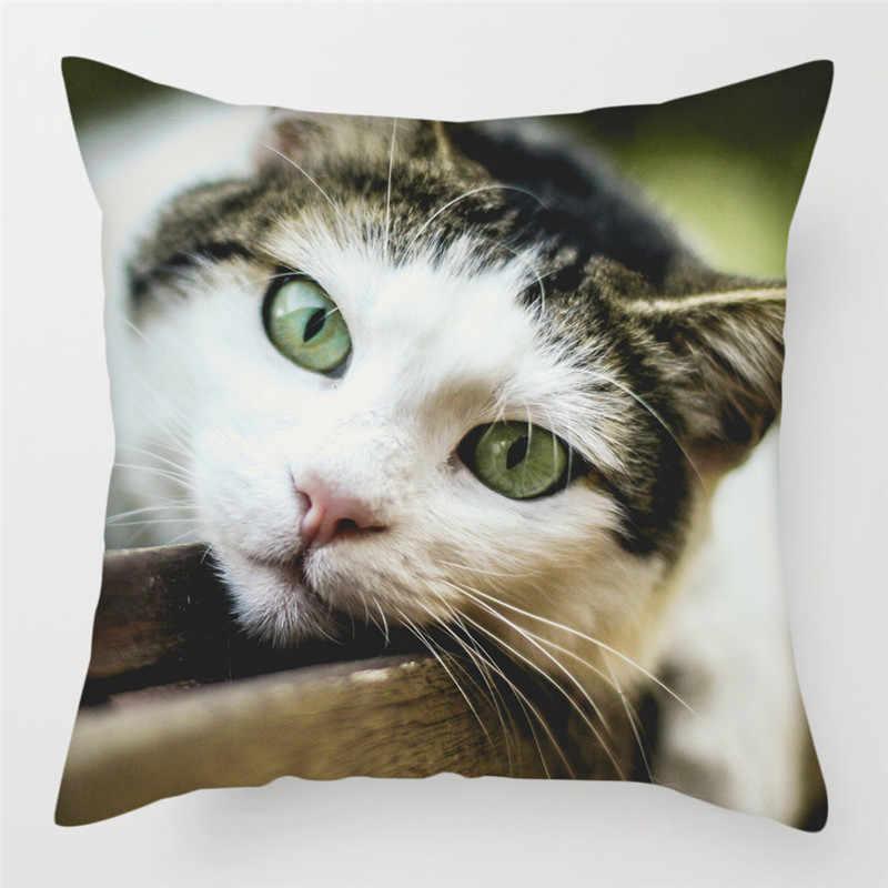 Fuwatacchi Cute Cat Sarung Bantal Kanada Tak Berbulu Bantal Cover Bantal Cover Sofa, Kursi Rumah Decoratives Melempar Sarung Bantal