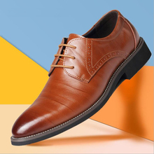 Fashion Men Dress Shoes Classic Genuine Leather Flats Male Formal Oxford Dress Shoe Casual Luxury Zapatos Hombre Plus Size цены онлайн