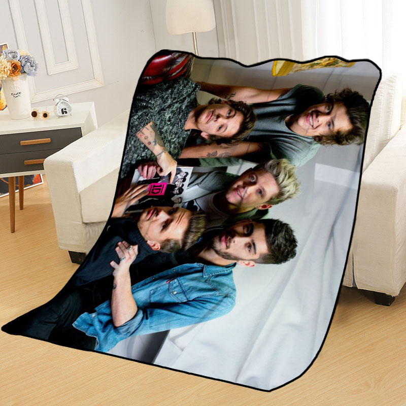 New Arrival One Direction Blankets Printing Soft Nap Blanket On Home/Sofa/Office Portable Travel Cover Blanket-3