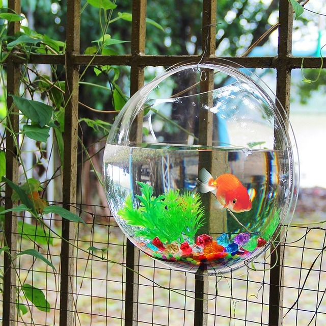 Acrylic Fish Bowl Wall Hanging Aquarium Tank Aquatic Pet Supplies Pet Products Wall Mount Fish Tank for Betta Fish 4