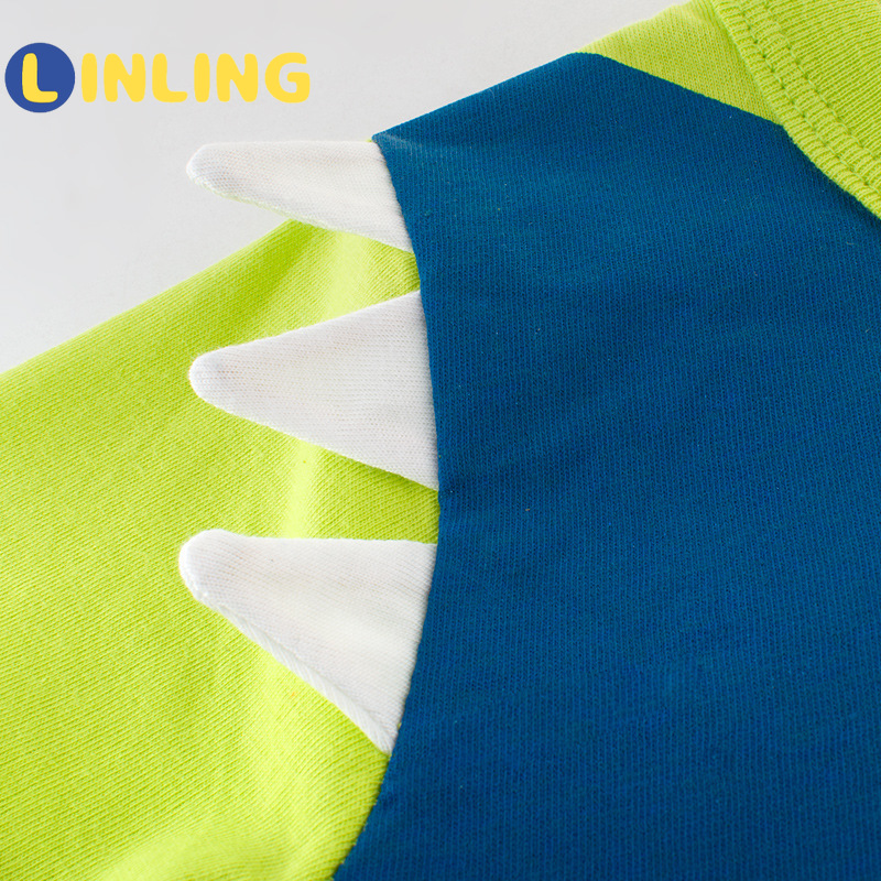 LINLING Children Summer Clothing Baby Boys T Shirt Cotton Shark Short Sleeve Tops Boy Casual Sport T-shirt 2-8Y Kids Shirts V59 3
