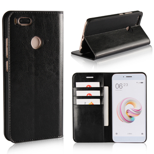 Image 2 - 360 Natural Genuine Leather Skin Flip Wallet Book Phone Case Cover On For Xiaomi Mi A1 MiA1 A 1 Pro Prime 3/4 32/64 GB Xiomi