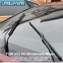 Щетка стеклоочистителя для лобового стекла автомобиля для volvo xc60 s60 v60 s80 xc90 v70 v40, натуральный каучук, бескостный стеклоочиститель, автомобильные аксессуары
