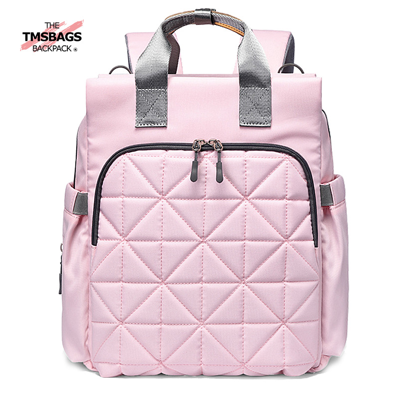 Diaper Bag Multi-functional New Style Hand Mommy Bag Backpack Large Capacity Waterproof Rhombus Diaper Mom And Baby Backpack