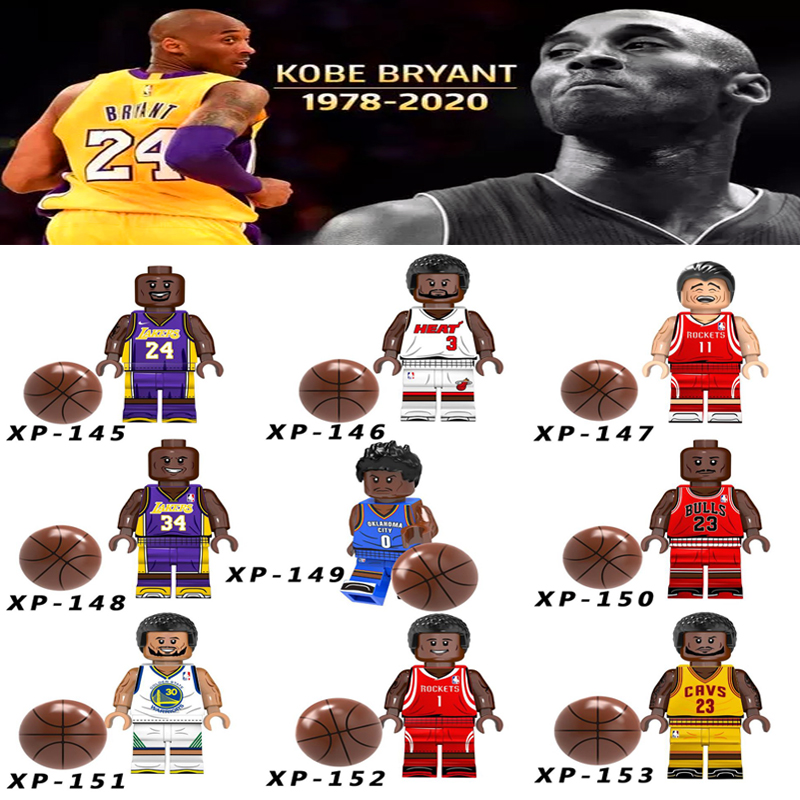 Single Sale Kobe Bryant American Professional Basketball Player LeBron James Stephen Curry Building Blocks Bricks Legoings Toys