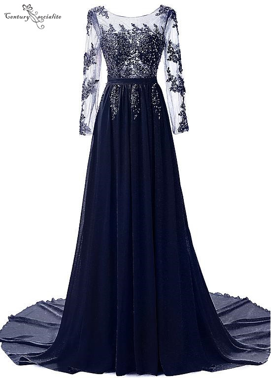 Long Sleeves Mother Of The Bride Dresses Lace Appliques Beaded Sequins Open Back Wedding Guest Gowns Evening Dresses Plus Size