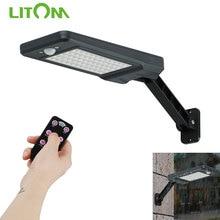 New LITOM 60 Leds Solar Lamp Garden Light Outdoor Wall Lights 900LM IP65 Waterproof Solar Motion Sensor Light For Yard Emergency