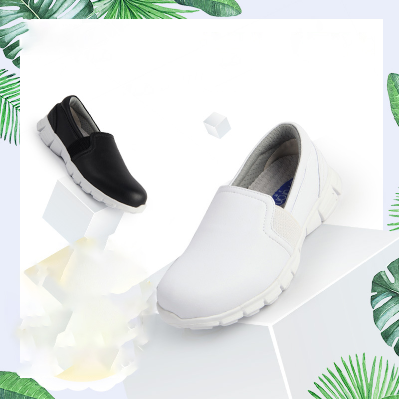 Infinity Rush Slip-on Shoes Medical Work Footwear Security Nursing Shoes White/Black  Hospital OR Doctor Shoes