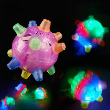 GloryStar Children Music Jump Flash Ball Toys Light-emitting Dance Ball Educational Toys Random Color