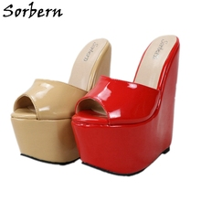 Shoes Female Women Slippers Wedges Platform Slides High-Heel Comfortable Outdoor Summer-Style