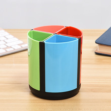 Creative Round Pen Holder Multi-Functional Color Plastic Pen Barrel Personalized Fashion Office Supplies