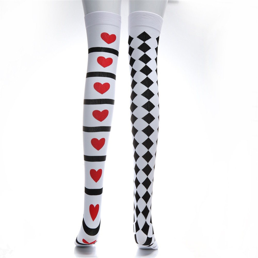 Halloween Long Tube Knee Socks High Quality Fashion Print Fancy Dress Party Funny Dress Up Props Funny Socks Female Calcetines