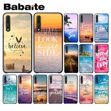 Summer Blue Sky Beach Quotes TPU Soft Phone Case for Huawei P10 plus 20 pro P20 lite mate9 10 lite honor 10 view10 Cover(China)