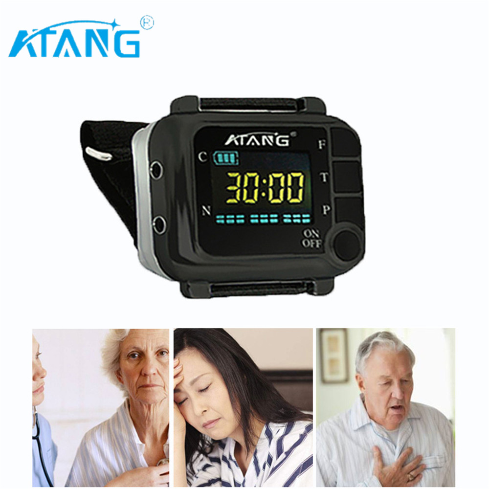 2020 ATANG Acupuncture Rhinitis Sinusitis Blood Sugar Cold Laser Clean Blood Viscosity High Blood Pressure Therapy Laser Watch