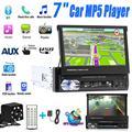 7 дюймов Автомобильный стерео аудио Радио GPS навигации выдвижной авто с BT DVD MP5, SD карт памяти, fm-радио USB плеер заднего вида Камера