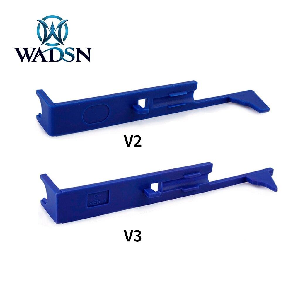 WADSN-Placa de Tappet Airsoft para AEG Ver.2/3 M4 MP5 AK G36, caja de cambios, accesorios de Paintball para Rifle de caza, actualización de plástico