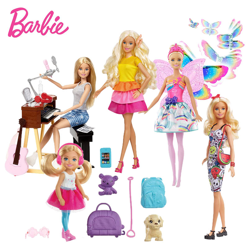 Original Barbie Toys Barbie Musician Doll & Playset Barbie Dolls Set Collector Model Figure All Joints Toy Gift For Girls Boneca