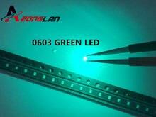 100 pces smd 0603 diodo emissor de luz-diodos esmeralda verde esmeralda esmeralda verde 0603 smd led diodo brilhante chips diodi pacote 525nm