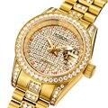 Франция ROSDN женские часы люксовый бренд с MIYOTA автоматические механические часы для женщин Полный алмаз светящиеся пары часы R2009