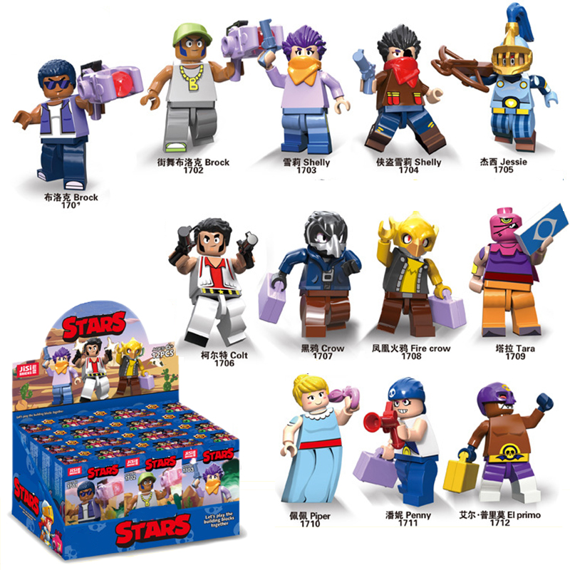 Brawl Star Action Figure Game Anime Star Hero Shelly Nita Colt Jessie Bull Jessie Dynamike Brock Bo El Pvc Collection Model Toy