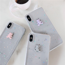 3D gummy bear phone coque for iPhone 7 8 x xr case thicken soft glitter 6s 6 Plus luxury XS Max TPU cover