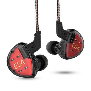 Image 4 - KZ ES4 בצגי אוזן אבזור ודינמי היברידי אוזניות אוזן אוזניות אוזניות HiFi בס רעש ביטול אוזן ווי אוזניות