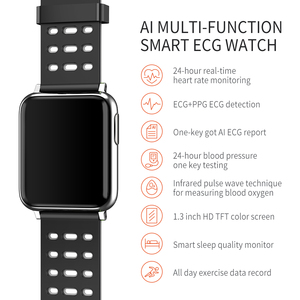 """Image 4 - V5 1.3 """"HD Bluetooth montre intelligente PPG + ECG + SPO2 Bracelet intelligent montre fréquence cardiaque pression artérielle moniteur doxygène Fitness Tracker IP67"""