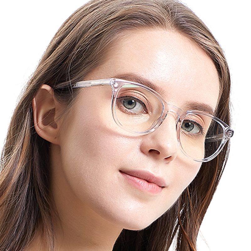 SASAMIA Glasses Frame Women Round Transparent Glasses Circle Prescription Clear Glasses Frames Retro Vintage Womens Eyeglass