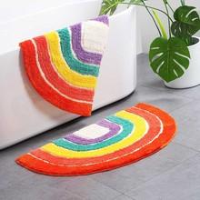 Rainbow Bathroom Rug Area Rug Carpet Anti Slip Geometric Entrance Carpets Kitchen Rug Floor Mats Welcome Doormat Home Decor