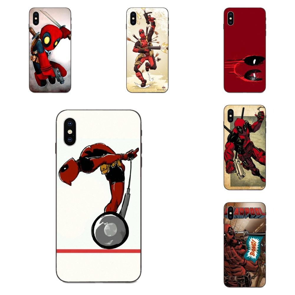 For Xiaomi Redmi Note 3 3S 4 4A 4X 5 5A <font><b>6</b></font> 6A 7 7A K20 Plus Pro S2 Y2 Y3 Soft Patterns Movie <font><b>Knife</b></font> Deadpool Hero image
