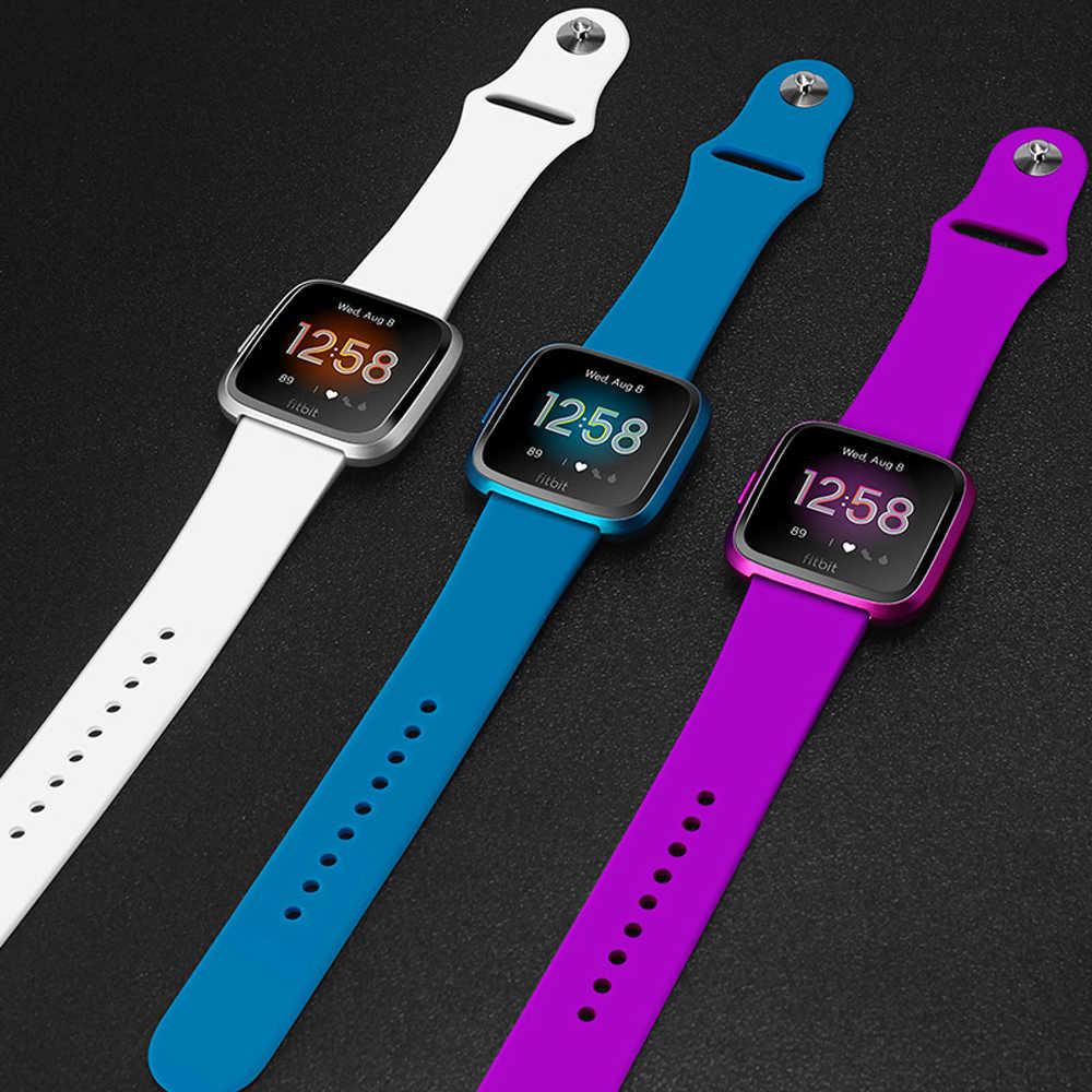 Correa de silicona para Fitbit Versa, repuesto de correa de silicona para Fitbit Versa, correa para reloj inteligente