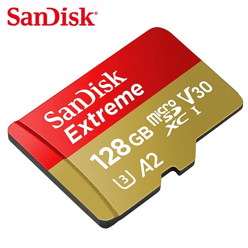 SanDisk 64GB Microsd Card 32GB TF Flash 128GB 256GB SDXC Memory Card A1/A2 U3 V30 UHS-I C10 cartao de memoria 4K For Smartphone