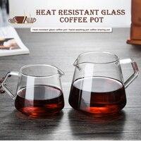 400ML-600ML 유리 커피 공유 냄비 커피 서버 디켄터 홈 양조 컵 손으로 만든 커피 메이커 아이스 드립 주전자