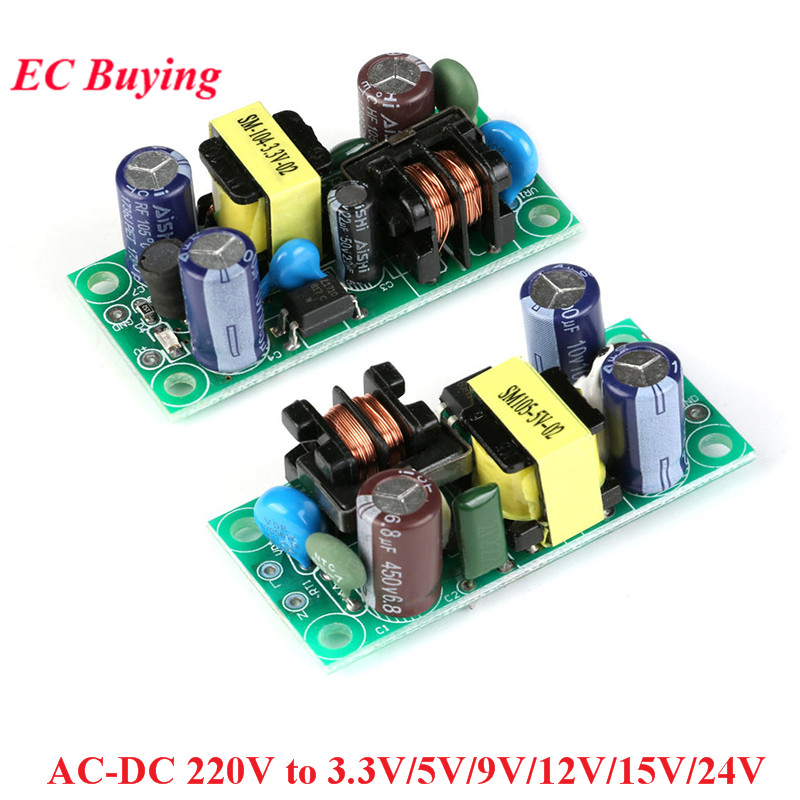 AC-DC 220V to 3.3V <font><b>5V</b></font> 9V 12V 15V 24V AC to DC Switching Power Supply <font><b>Board</b></font> Isolated Switch Step Down Buck Converter Module image