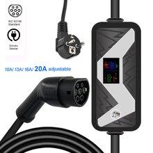 EVSE – chargeur de voiture électrique 20A IEC 62196, Station de recharge Ev avec prise murale ue pour véhicule Renault